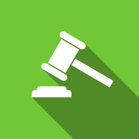 verdict: auction flat icon court sign verdict symbol