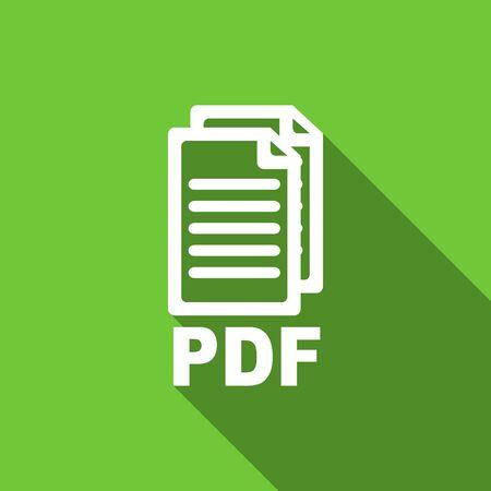 pdf: pdf flat icon pdf file sign