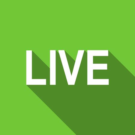 web cast: live flat icon