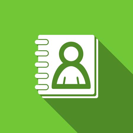 address book: address book flat icon
