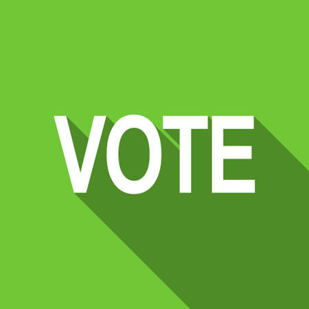 vote: vote flat icon Stock Photo
