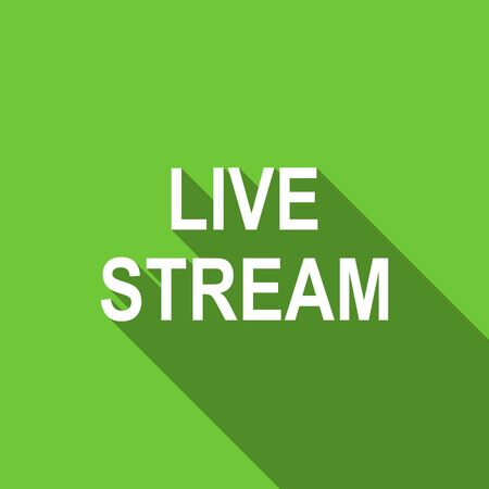 live stream: live stream flat icon Stock Photo