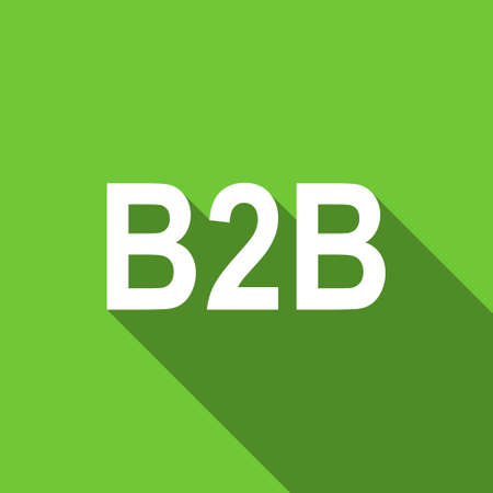 b2b: b2b flat icon