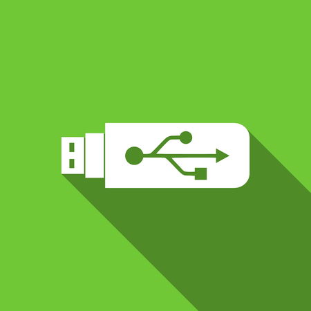 usb pendrive: usb flat icon flash memory sign Stock Photo