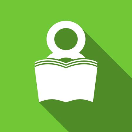 bibliophile: book flat icon reading room sign bookshop symbol Stock Photo