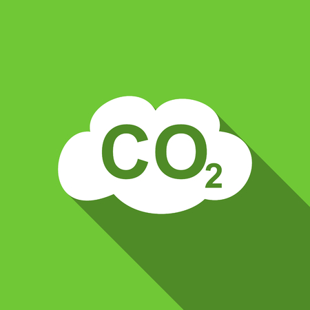 dioxide: carbon dioxide flat icon co2 sign Stock Photo