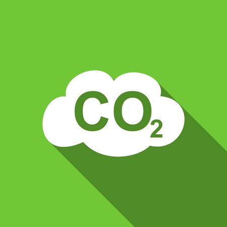 dioxido de carbono: dióxido de carbono icono plana signo co2