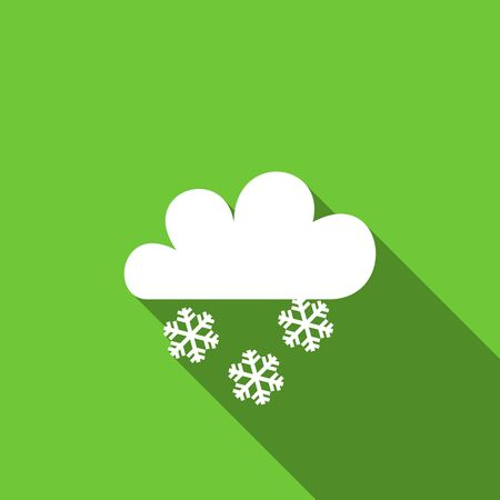 snowing: snowing flat icon waether forecast sign