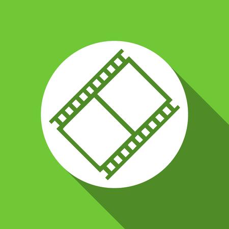 movie sign: film flat icon movie sign cinema symbol