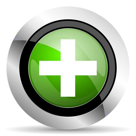 plus icon: plus icon, green button, cross sign