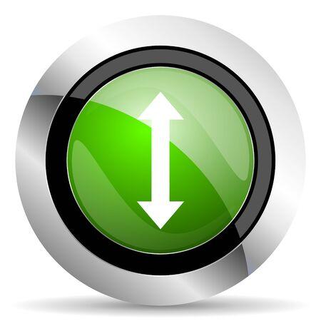 sterring: arrow icon, green button