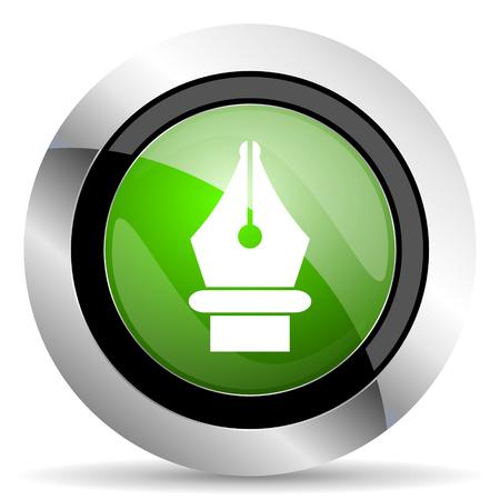pen icon: pen icon, green button