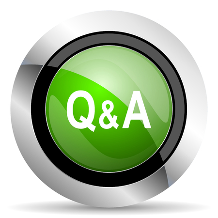 question and answer: question answer icon, green button