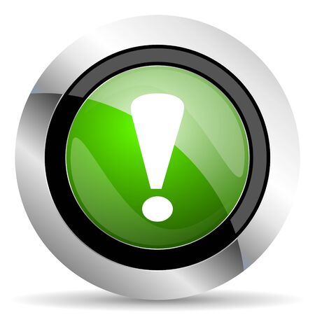 exclamation sign: exclamation sign icon, green button, warning sign