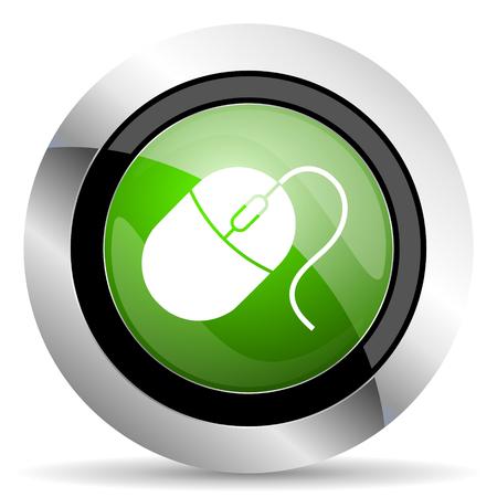 mouse icon: computer mouse icon, green button