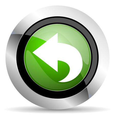 back icon: back icon, green button, arrow sign Stock Photo