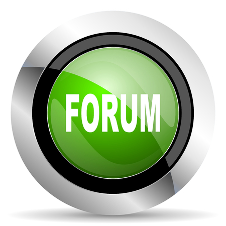 forum icon: forum icon, green button