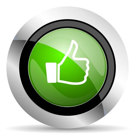 like icon: like icon, green button, thumb up sign