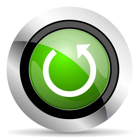rotate icon: rotate icon, green button, reload sign