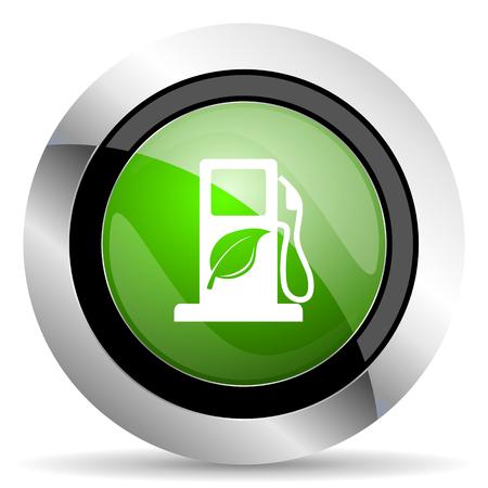 bio fuel: biofuel icon, green button, bio fuel sign