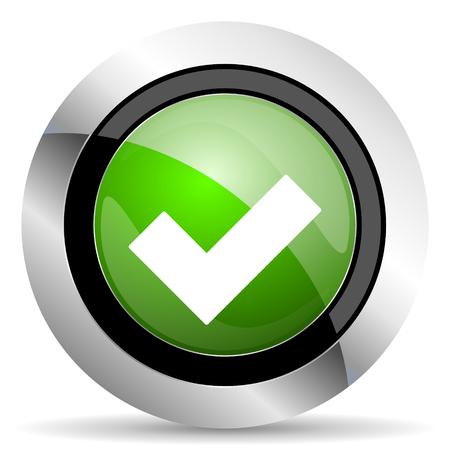 accept icon: accept icon, green button, check sign