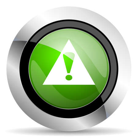 exclamation sign: exclamation sign icon, green button, warning sign, alert symbol