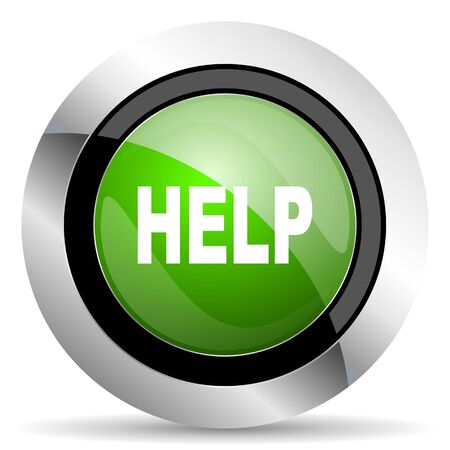 green button: help icon, green button