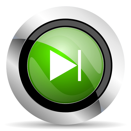 next icon: next icon, green button Stock Photo