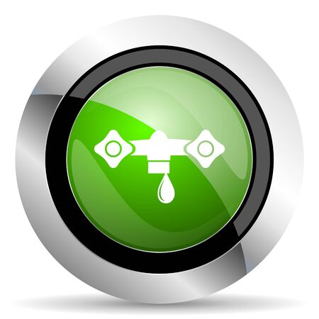 hydraulics: water icon, green button, hydraulics sign
