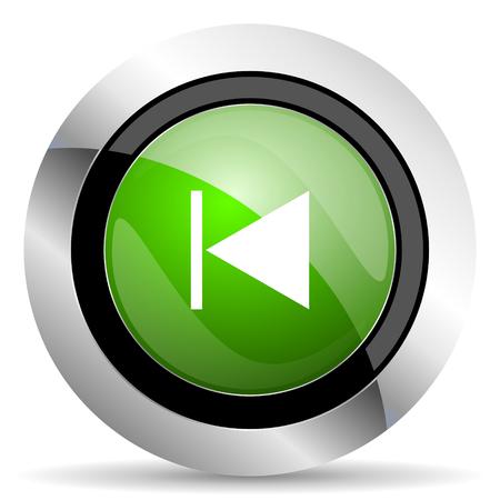 previous: previous icon, green button