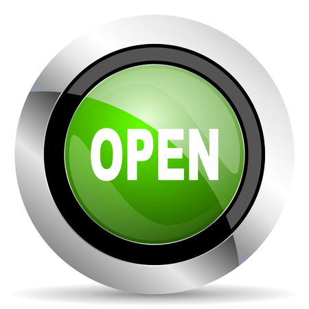 green button: open icon, green button