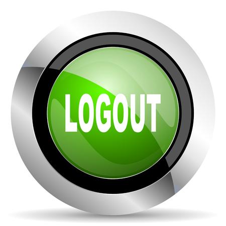 logout: logout icon, green button