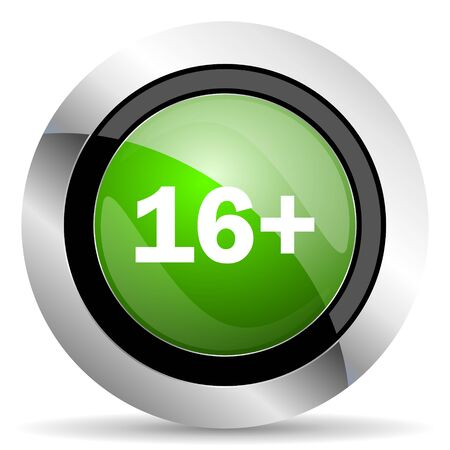 adults: adults icon, green button Stock Photo