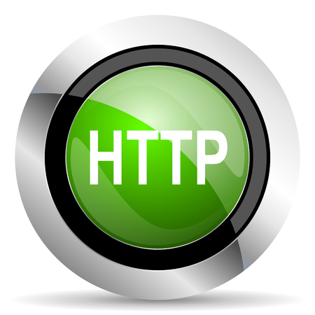 http: http icon, green button