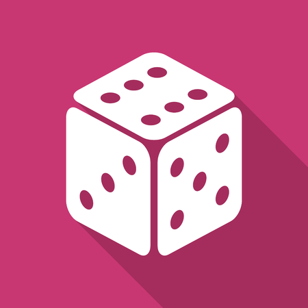 picto: game flat design modern icon with long shadow for web and mobile app