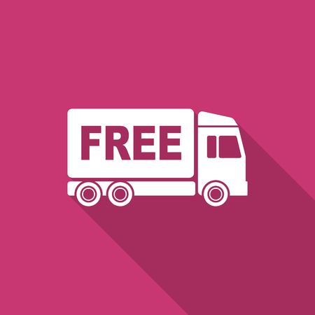 d�livrance: free delivery flat design modern icon with long shadow for web and mobile app