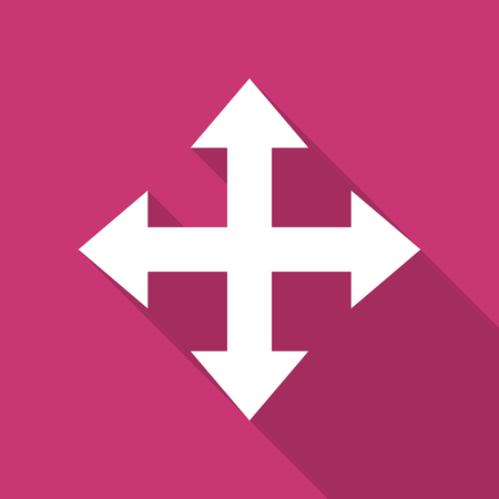 sterring: arrow flat design modern icon with long shadow for web and mobile app