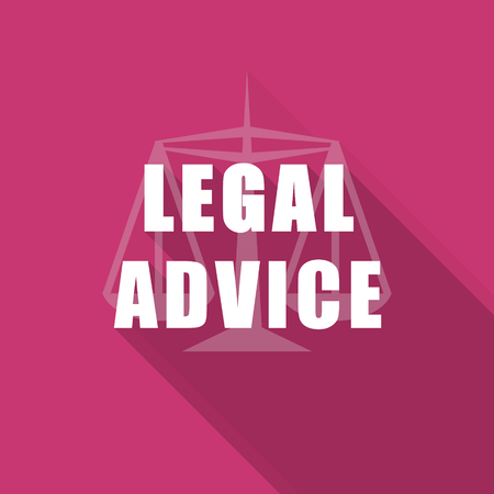 criminal act: legal advice flat design modern icon with long shadow for web and mobile app