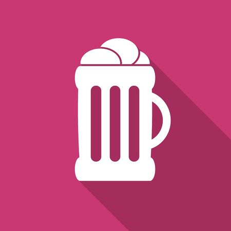 cereal bar: beer flat design modern icon with long shadow for web and mobile app