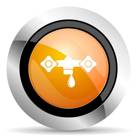 hydraulics: water orange icon hydraulics sign