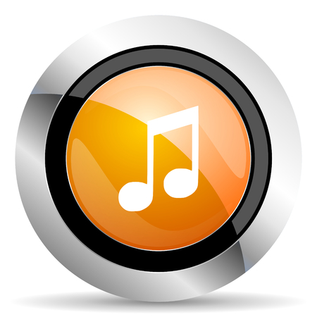 melodic: music orange icon note sign