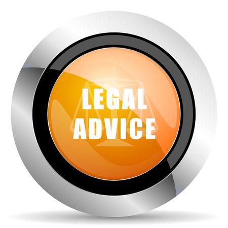 asesoria legal: asesoramiento jur�dico icono naranja signo ley