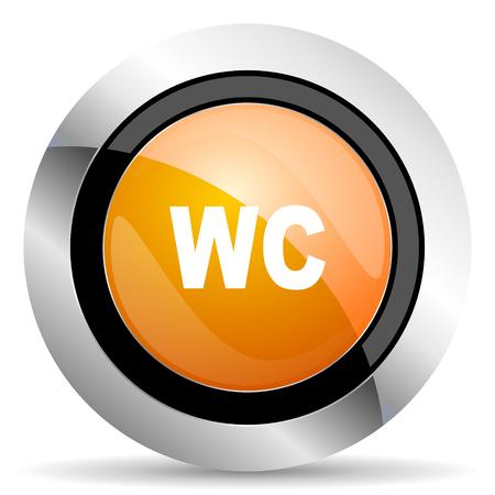 wc: WC orangefarbene Symbol wc Zeichen