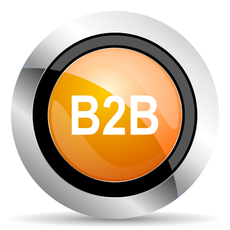 b2b: icono naranja b2b