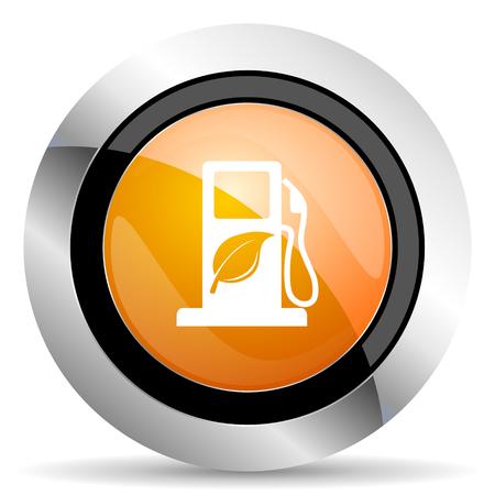 bio fuel: biofuel orange icon bio fuel sign