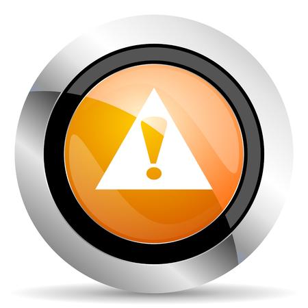 exclamation icon: exclamation sign orange icon warning sign alert symbol Stock Photo