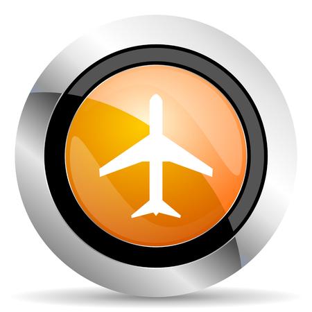 airport sign: plane orange icon airport sign