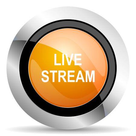 live stream movie: live stream orange icon