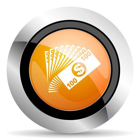 cash money: money orange icon cash symbol