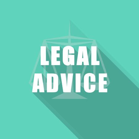 asesoria legal: asesoramiento jur�dico icono moderno dise�o plano con una larga sombra para la web y de aplicaciones m�viles Foto de archivo